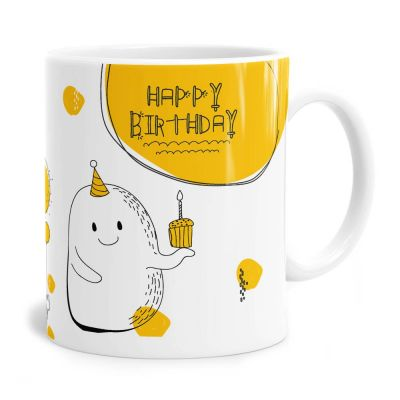 Doodle One Birthday Tea Coffee Mug