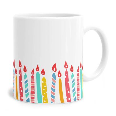 Colourful Candles Birthday Tea Coffee Mug