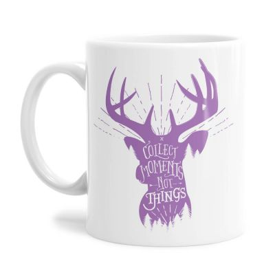 Collect Moments Not Things Stag Tea Coffee Mug