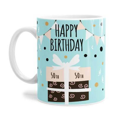 Present 50th Birthday Tea Coffee Mug