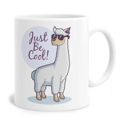 Just Be Cool Lama Tea Coffee Mug