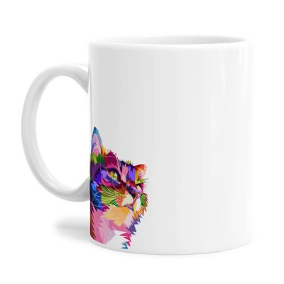 Colourful Cat Tea Coffee Mug