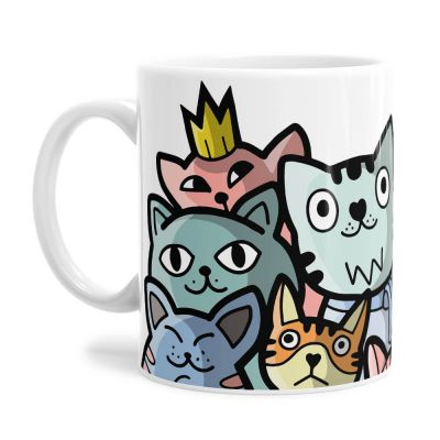 Cartoon Kitty Cats Tea Coffee Mug