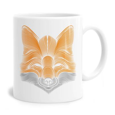 Fox Lines Tea Coffee Mug