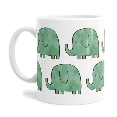 Green Elephants Tea Coffee Mug