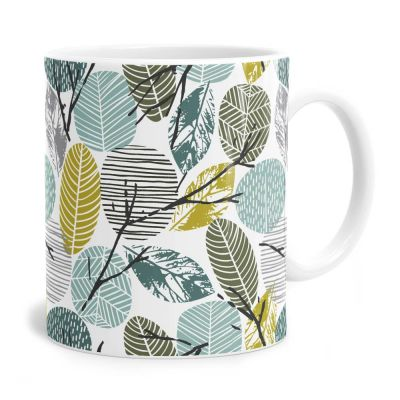 Leaf Pattern Tea Coffee Mug