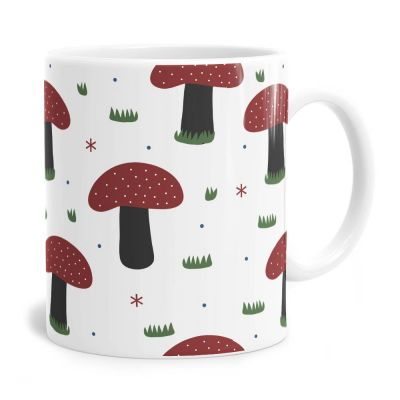 Forrest Mushroom Pattern Tea Coffee Mug