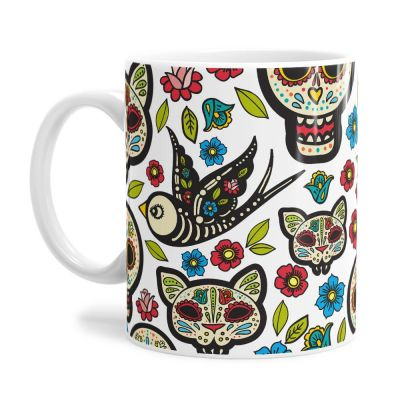 Day Of The Dead Pattern Tea Coffee Mug