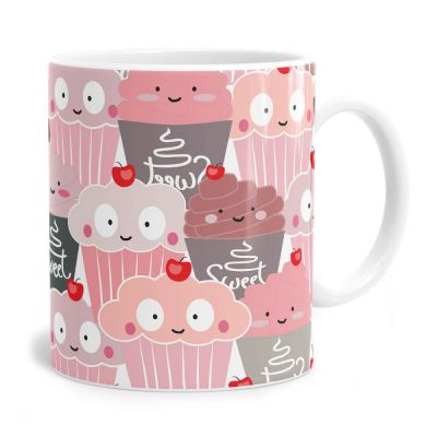 Cute Cupcake Pattern Tea Coffee Mug