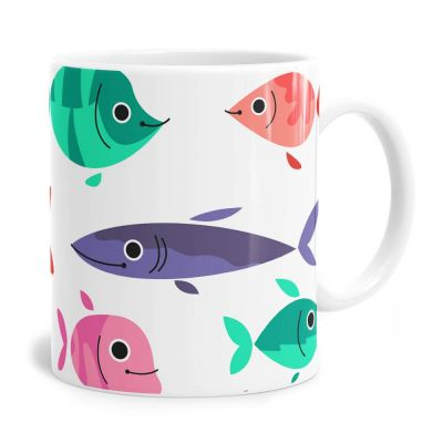 Happy Fish Pattern Tea Coffee Mug
