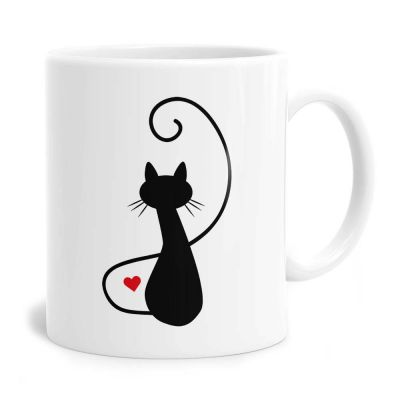 Cat Silhouette Tea Coffee Mug