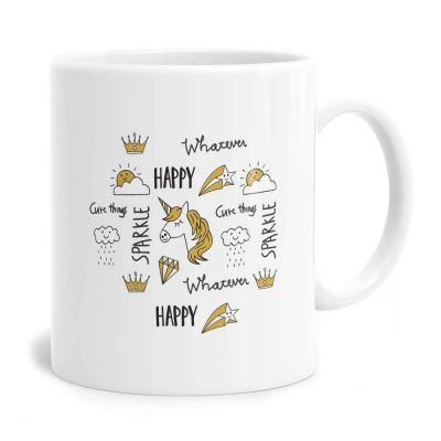 Happy Sparkle Tea Coffee Mug