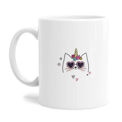 Cool Caticorn Tea Coffee Mug