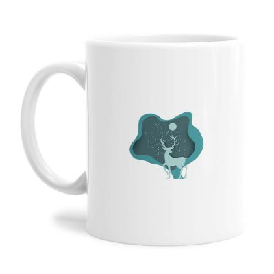 Aqua Deer Tea Coffee Mug