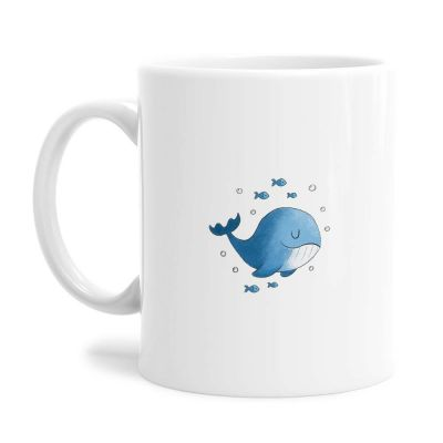 Cute Blue Whale Tea Coffee Mug