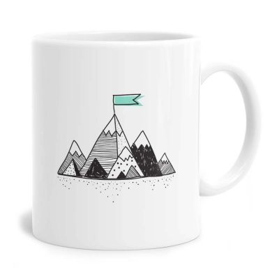 Mountain Flag Tea Coffee Mug