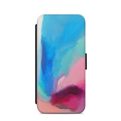 Falling Peacock Abstract iPhone Wallet Case